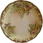 SALE Prussia - Royal Rudolstadt Charger Plate w/White Grapes Motif