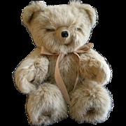 """Vintage Fur Teddy Bear by Helen Duggan """"Palm Beach Bears"""" - Snow Top Satin Rabbit"""