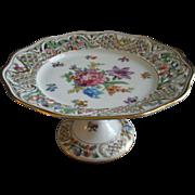 "Schumann Bavaria ""Chateau Dresden"" Pattern Pedestal Tea Cake Stand"