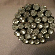 Victorian Hat Pin Studded w/Prone-Set Clear Rhinestones