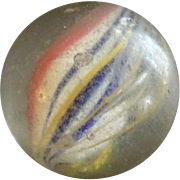 """German Hand-Made Ribbon Core Swirl 'Shooter"""" Glass Marble"""