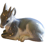 "Royal Copenhagen Figurine ""Deer Faun"" #2648, Sculptured by Knud Kyhn"