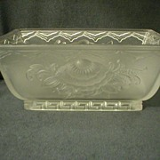 "American ""Verlys"" Console Bowl in Floral Pattern"