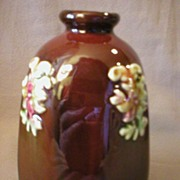 """Peters & Reed """"Sprigged"""" Decorated Octagon Vase"""