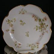 "Set of 6 - Haviland China ""Poppy"" Luncheon Plates"