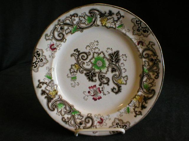 "F Morley & Co - Gaudy Ironstone Plate ""Aurora"" Pattern"