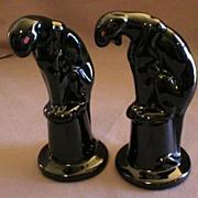 "Pair of Royal Haeger ""Panther on Pedestal"" Figurals"