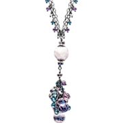 SOLD Amethyst, Moonstone, Opal, Topaz and Zircon Sterling Silver Necklace