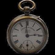 German Patent Moko Pocket Watch E.P.N.S. Vesta Case Strike