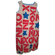SOLD 1968 Richard Nixon Presidential Campaign Paper Dress
