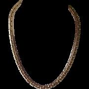 Vintage Gold Tone Brick Link Choker Necklace