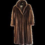 Estate Soft Brown Canadian Mink Fur Coat Size M  Excellent