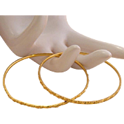 Pair of Solid 22k Gold Bangle Bracelet 21 Grams