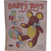 Vintage 1959 Linen Baby Book