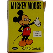 Vintage 1965 Disney Mickey Mouse Card Game
