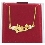 Vintage Gold tone Metal Mother's Necklace