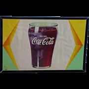 Vintage Coke Cola Sign Framed Circa 1940's