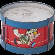 Vintage Ohio Art Tin Toy Drum