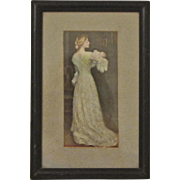 Antique Framed Victorian Print Mother and Child