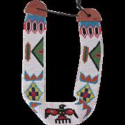 Navajo Hand Beaded Hat Band