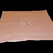 Vintage Appliqued Bunny Baby Blanket