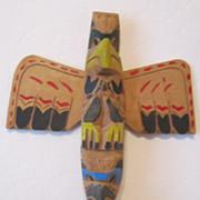 REDUCED Vintage Inuit Talking Stick Signed Dated