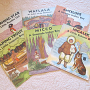 REDUCED Vintage set of 6 Native American Children's Book Circa 1930's