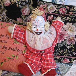 REDUCED Vintage Gund Clown Doll