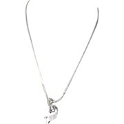 REDUCED Vintage Custom Navajo Sterling Silver Kokopelli Necklace