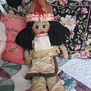 Vintage Handmade Cloth Indian Doll