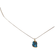 REDUCED Turquoise and 24 K Gold Filled Pendant