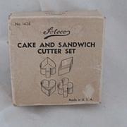 "REDUCED Vintage Circa 1940's ""Ateco"" Set Of 4 Cookie Cutters Original Box"