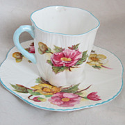 Vintage Shelley Begonia Cup and Saucer