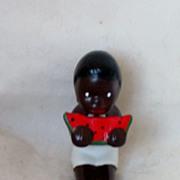 REDUCED Vintage Black Bisque Doll Figure