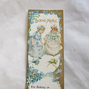 """REDUCED Antique """"Richmond Range"""" Advertising Book Mark Circa 1900"""