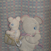 REDUCED Adorable Vintage Teddy Bear Baby Quilt TOO SWEET!