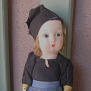Vintage Felt Lenci Style Doll Unmarked TOO CUTE!