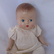 Vintage 1930's Composition Doll All Original TOO CUTE!