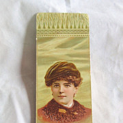 """REDUCED Antique  Advertisement Bookmark For """"Andes Stove And Ranges"""""""
