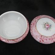 Superb Vintage Noritake Rose 2 Piece Dresser/ Ring Dish Handpainted