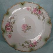 Vintage Haviland Limoges Pink Rose Plate Gorgeous !