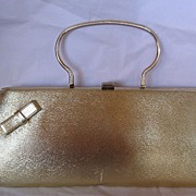 "Wonderful Vintage ""Berne"" Gold Purse  /Evening Bag Very 1960's"
