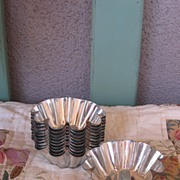 REDUCED Vintage French Metal Tart Molds Set Of 11