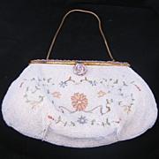 Vintage Gorgeous 3 Piece Belgium Handmade Beaded Evening Bag / Purse