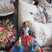 REDUCED Vintage Black Americana Composition Doll