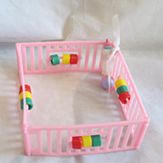 REDUCED Vintage Circa 1960's Doll Playpen Too Cute!