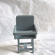 REDUCED Vintage Wooden Doll High Chair