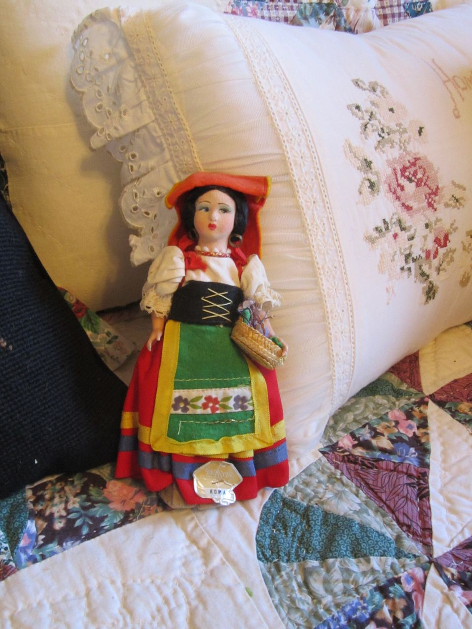 Vintage Felt and Plastic Italian Doll