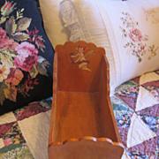 REDUCED Vintage Wooden Doll Cradle