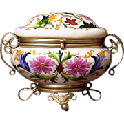 Opaline Box or Casket: Museum Quality